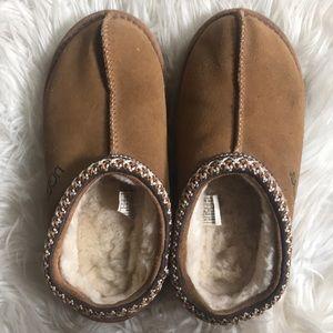 UGG Tasman wool suede chesnut slipper shoe kids